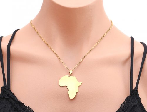 African Map Pendant Necklace